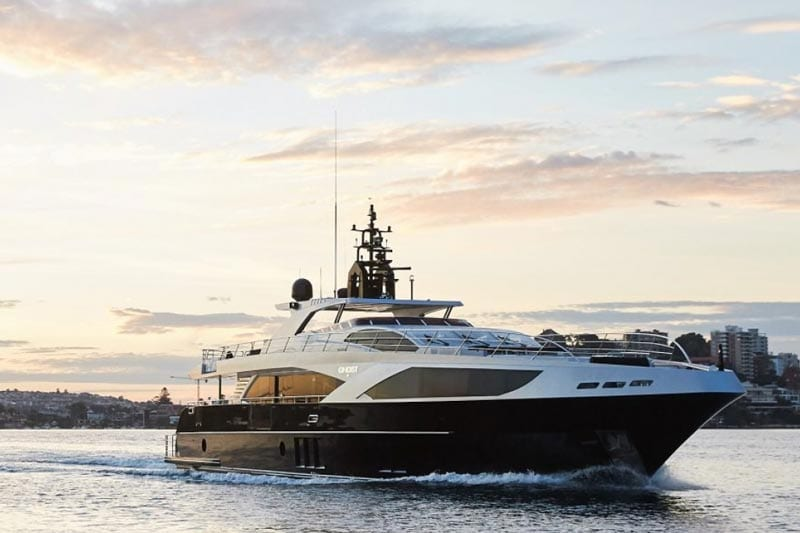 Ghost II Superyacht for charter boat Sydney